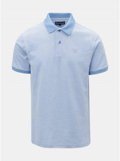 Světle modré polo tričko s drobnou výšivkou Barbour Sports Polo Mix
