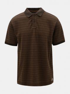 Hnědé pánské pruhované polo tričko BUSHMAN Roseglen