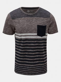 Modro-vínové pruhované slim fit tričko Jack & Jones True