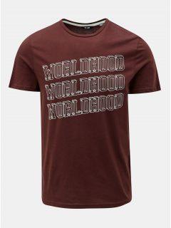 Hnědé tričko s potiskem ONLY & SONS Fore