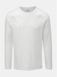 Bílé basic muscle fit tričko s dlouhým rukávem Burton Menswear London