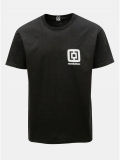 Černé pánské tričko s potiskem a krátkým rukávem Horsefeathers Mini Logo