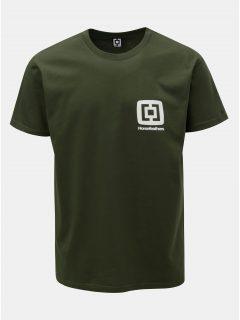 Tmavě zelené pánské tričko s potiskem a krátkým rukávem Horsefeathers Mini Logo