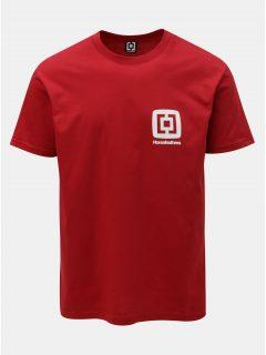 Červené pánské tričko s potiskem a krátkým rukávem Horsefeathers Mini Logo