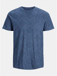 Modré květované tričko s kapsou Jack & Jones Charlie