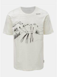 Bílé pánské tričko s potiskem Maloja Bengiamin