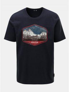 Tmavě modré pánské tričko s potiskem Maloja Beverin