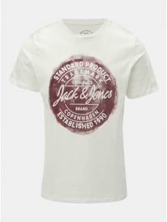 Bílé tričko s potiskem Jack & Jones Rejistood
