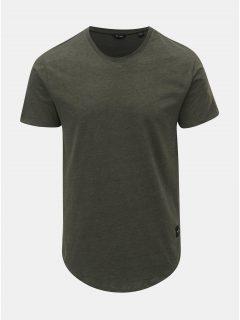 Khaki žíhané basic tričko ONLY & SONS Matt