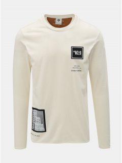 Krémové regular tričko s nášivkami a potiskem Jack & Jones Band