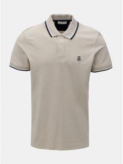 Béžové polo tričko Selected Homme Season
