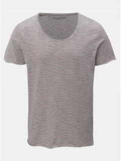 Modro-krémové pruhované basic tričko Selected Homme Merce