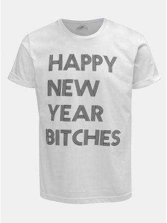 27fee705c87 Bílé pánské tričko s potiskem ZOOT Original Happy New Year Bitches ...