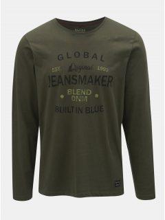 Khaki tričko s nápisem Blend