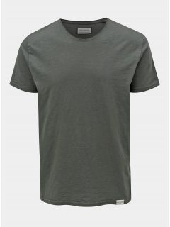 Khaki tričko s kulatým výstřihem Shine Original