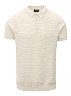 Krémové svetrové polo tričko Burton Menswear London