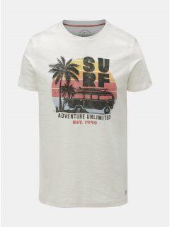 Krémové slim fit tričko Jack & Jones Newpleo