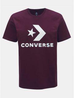 Vínové pánské tričko Converse