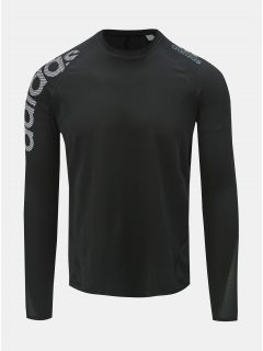 Černé pánské funkční tričko s potiskem adidas Performance