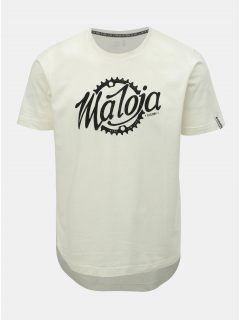 Krémové pánské tričko s potiskem Maloja Runatsch