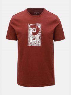 Hnědé tričko s potiskem ONLY & SONS Patrik