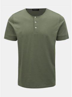Khaki tričko Selected Homme Amos