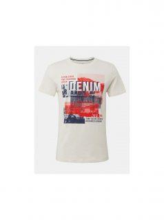 Krémové pánské tričko Tom Tailor Denim
