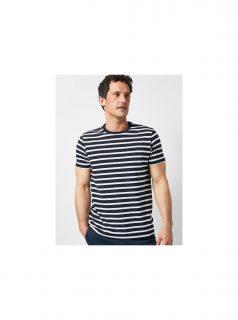 Bílo-modré pruhované tričko Burton Menswear London