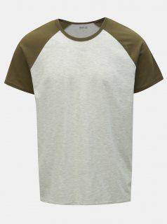 Zeleno-šedé žíhané tričko Burton Menswear London