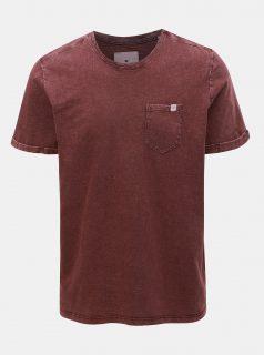 Vínové pánské žíhané tričko Tom Tailor