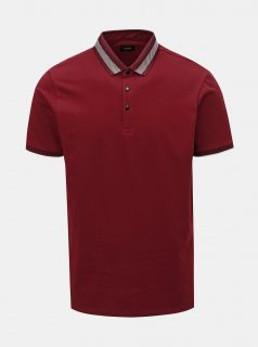 Vínové polo tričko Burton Menswear London