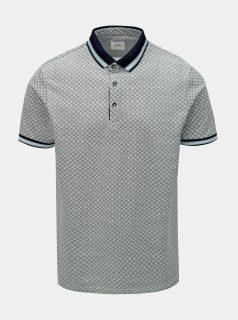 Šedé vzorované polo tričko Burton Menswear London