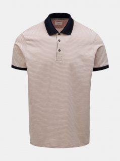 Světle růžové pruhované polo tričko Burton Menswear London