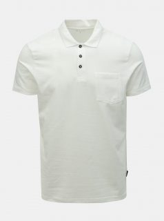 Bílé muscle fit polo tričko s kapsou Burton Menswear London