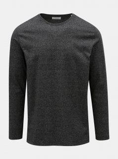 Tmavě šedé žíhané basic tričko Lindbergh