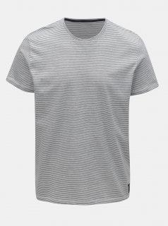 Modro-bílé pánské pruhované basic tričko Tom Tailor