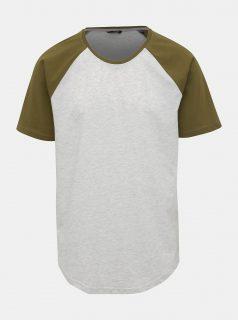 Světle šedé žíhané tričko ONLY & SONS Logan