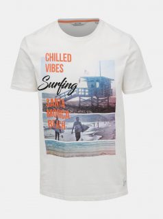 Bílé tričko s potiskem ONLY & SONS Layrence