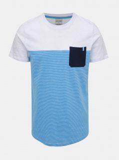 Modro-bílé pruhované tričko Jack & Jones Sect