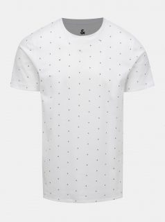 Bílé vzorované tričko Jack & Jones Jay
