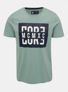 Zelené tričko s potiskem Jack & Jones Flake