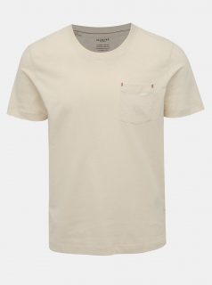 Krémové tričko s kapsou Selected Homme Jared