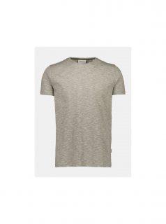 Khaki žíhané basic tričko Lindbergh