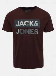 Vínové tričko s potiskem Jack & Jones Autumn