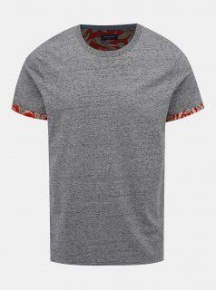 Šedé žíhané tričko Jack & Jones Slamuel