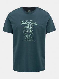Tmavě zelené pánské tričko s potiskem LOAP Anio