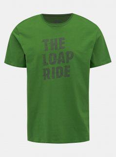 Zelené pánské tričko s potiskem LOAP Antony
