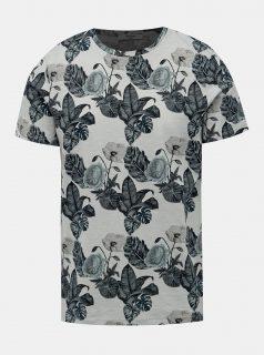 Světle zelené květované tričko Jack & Jones Palmer