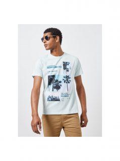 Mentolové tričko s potiskem Burton Menswear London