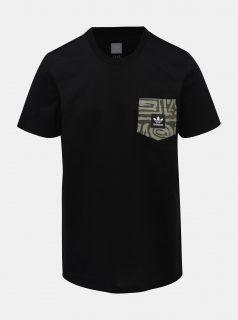 Černé pánské tričko s kapsou adidas Originals Dakari